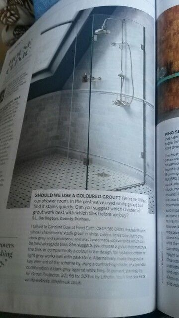 Grout for shower
