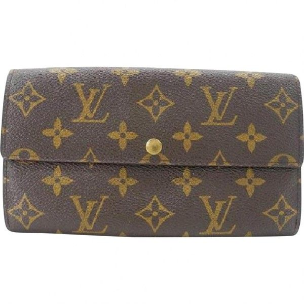 Pre-owned Louis Vuitton Cloth Wallet (1,135 PEN) ❤ liked on Polyvore featuring bags, wallets, other, brown bag, pre owned bags, louis vuitton, louis vuitton wallet and preowned bags