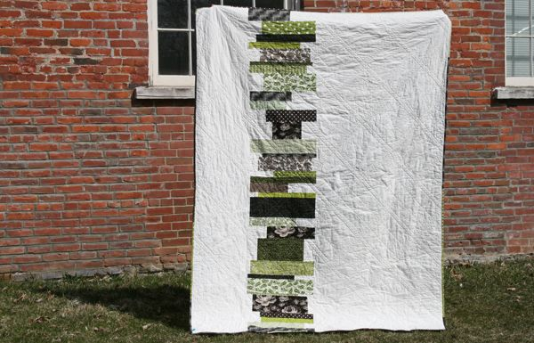 use scraps of a color, coin stack them - Greenfield Hill quilt back