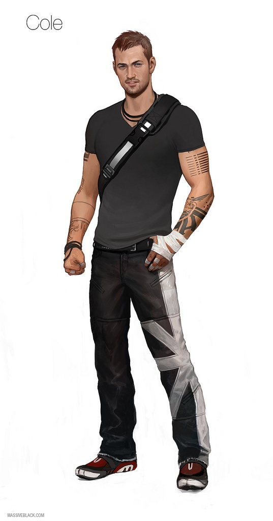 Cole MacGrath concept art for Infamous 2