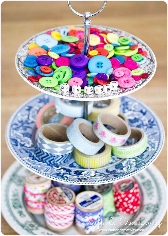 Bygg ditt eget kakfat - Make your own cake stand, by Craft & Creativity