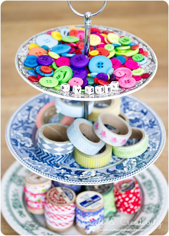 Bygg ditt eget kakfat - Make your own cake stand, by Craft & Creativity