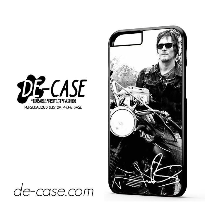 Norman Reedus And His Bike DEAL-8018 Apple Phonecase Cover For Iphone 6 / 6S