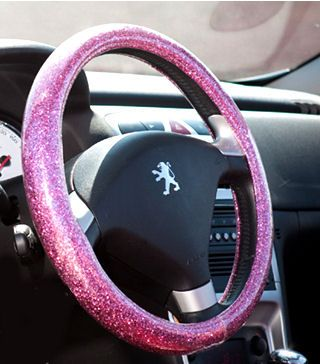 PINK BLING Sparkly steering wheel cover.  This will soon be mine !!! In 30 days!!  My husband just bought it for me