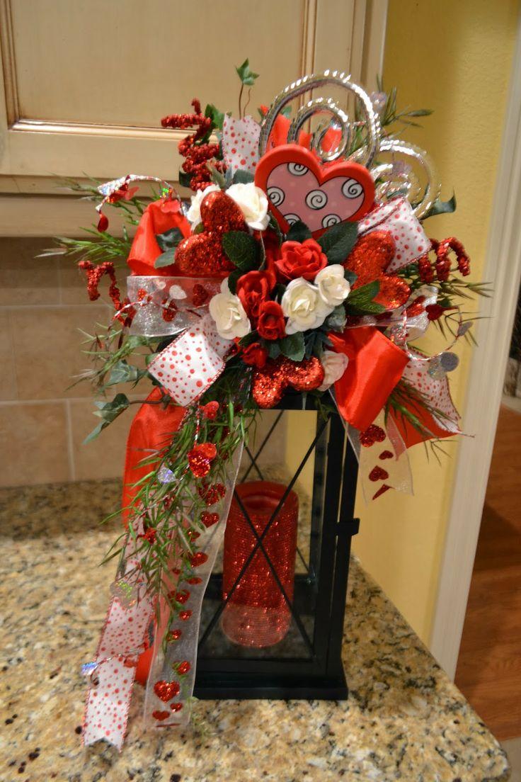 Kristen S Creations Valentine Lantern Swags Tassels And