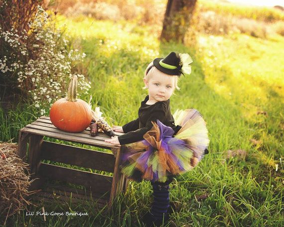BABY WITCH COSTUME Tutu Legwarmers Mini Witch by LilPinkGoose