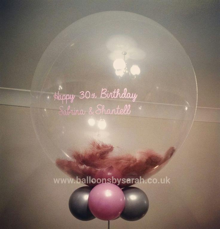 Filled latex balloon