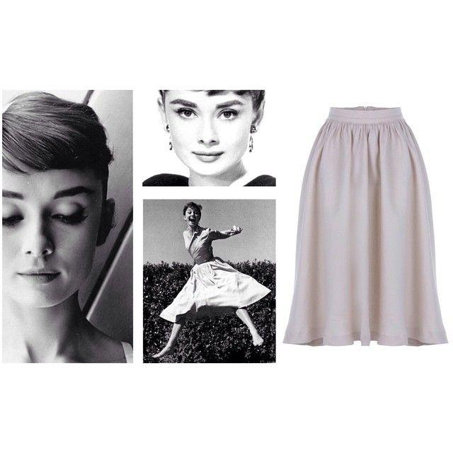 Audrey Hepburn swing skirt re-edition at von50.com