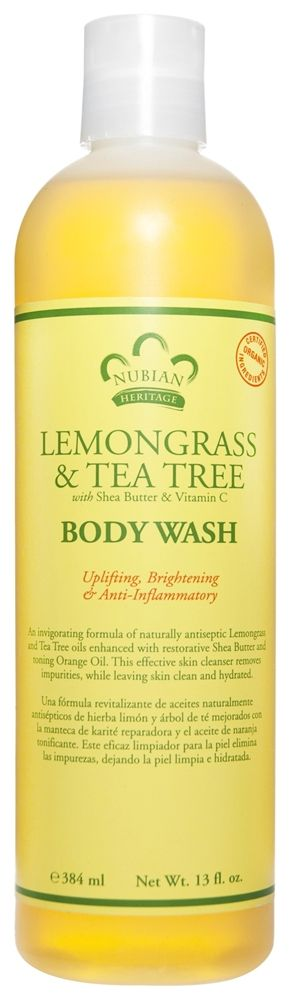 Buy Nubian Heritage - Body Wash Lemongrass & Tea Tree - 13 oz. at LuckyVitamin.com