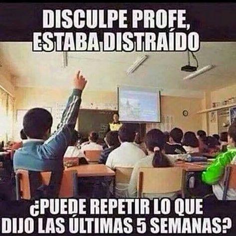 En clases #chiste #gracioso #chistoso #funnymeme fun #school #alwaysthesame #teacher #schooljokes #escuela #profe #igmeme #igcool #follow #mundo #mundopuntocom