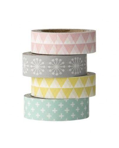 Washi tape estampados pasteles