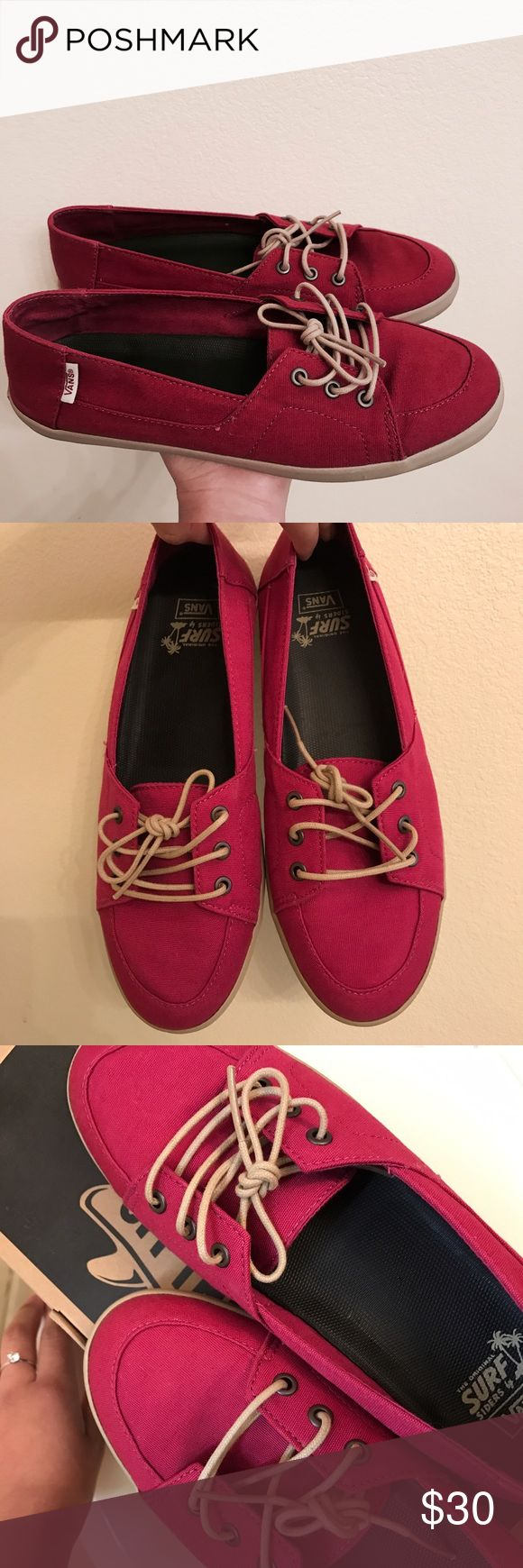 Vans Shoe - flats Vans slip on shoe! Only worn twice! (Selling because to big for me) very cute! Great condition! Vans Shoes Flats & Loafers