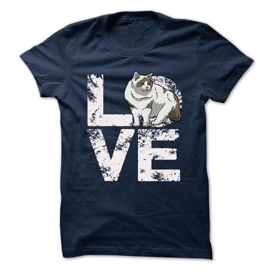 Love Ragdoll Cat T Shirts, Hoodies, Sweatshirts. CHECK PRICE ==► https://www.sunfrog.com/Pets/Love-Ragdoll-Cat.html?41382