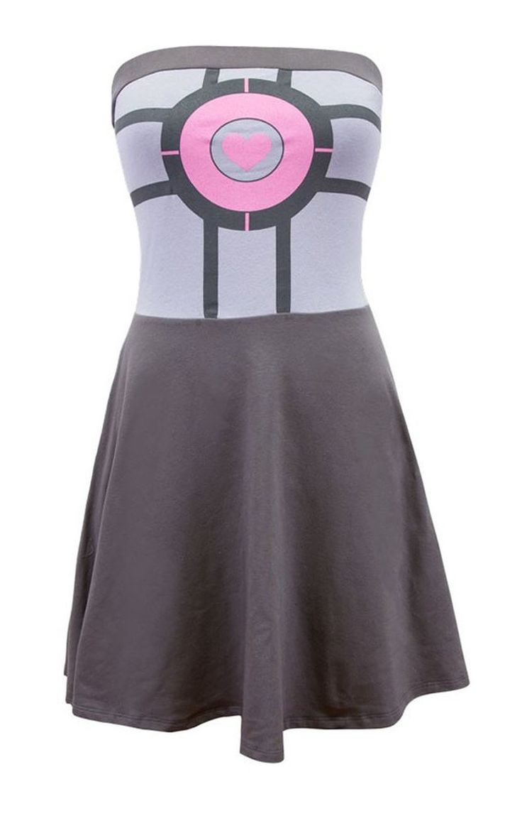 *Portal companion cube tube dress *Junior sizes *Great for Hallloween or everyday wear *Officially licensed product