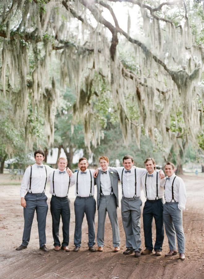 Groom & Groomsmen | Attire Idea: Mismatched grey.