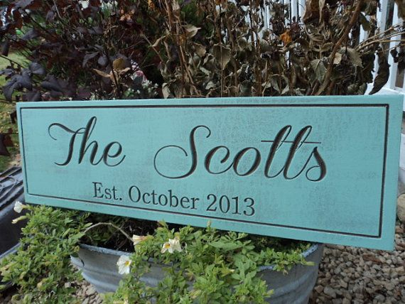 Personalized Family Name Established Sign by Timberlinewoodworks, $30.00