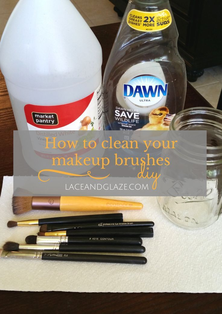 how to clean makeup brushes diy dish soap vinegar water