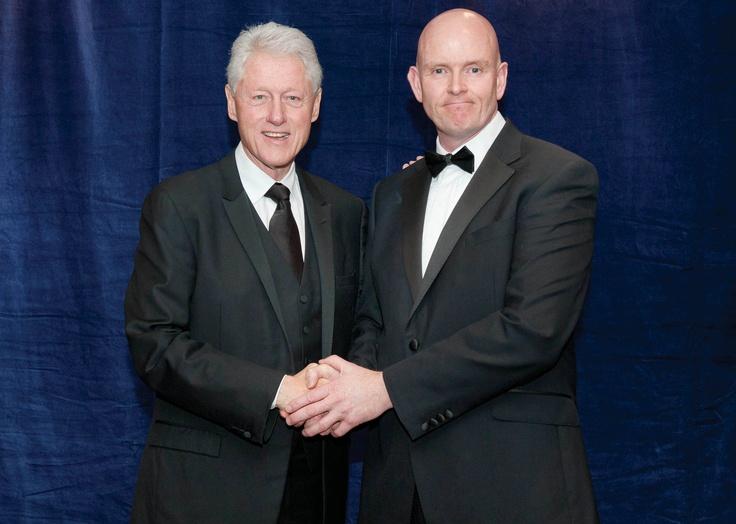 Kevin Byrne MD of Checkatrade.com with Bill Clinton