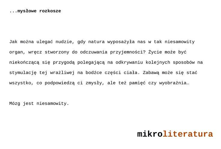 ...mysłowe rozkosze #literatura #mózg