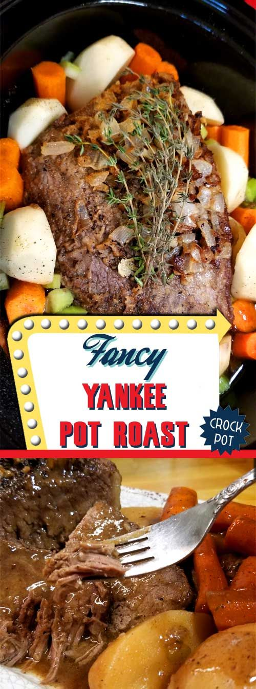 When thinking about comfort food, there is nothing more comforting than a savory, succulent, and satisfying Fancy Yankee Pot Roast. via @sparklesofyum