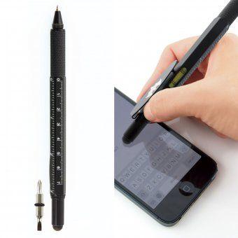 Kugelschreiber Batman mit Clip, Lineal, Schraubenzieher, Touchscreen-Stift und Wasserwaage #design3000 #batman #gadgets