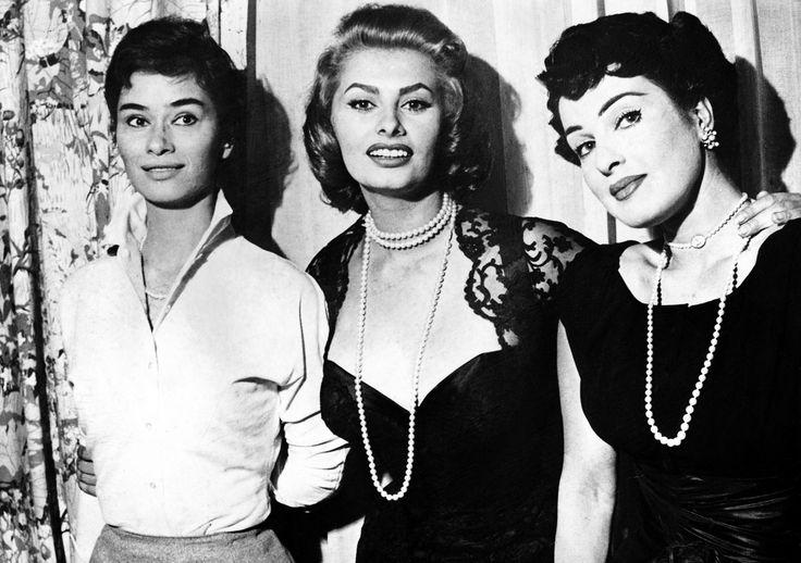 gatabella:  Sophia Loren Silvana Pampanini and Lea Massari 1950s