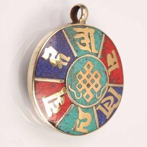 Tibetan Mantra inscripted Amulet @ $6.00