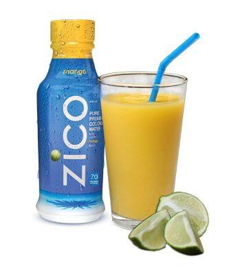 "This ""It Takes Two to ZICO"" drink contains mango, lime juice, coconut water, and cayenne pepper. Spicy and sweet!"