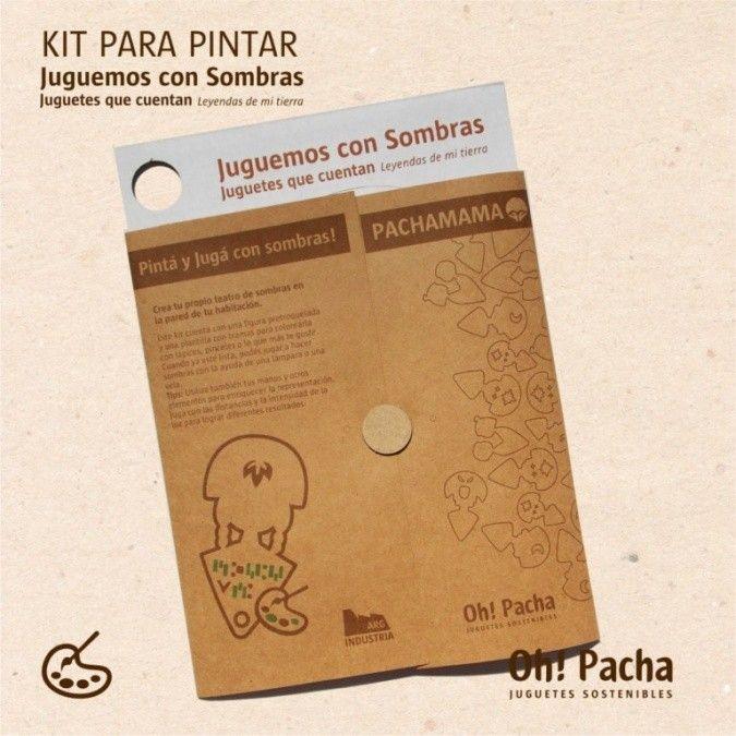 KIT PARA PINTAR CON PERSONAJES MITOLOGICOS ARGENTINOS. 1 silueta de 22cm de alto para proyectar en carton micro corrugado y serigrafiado. Materiales Sustentables