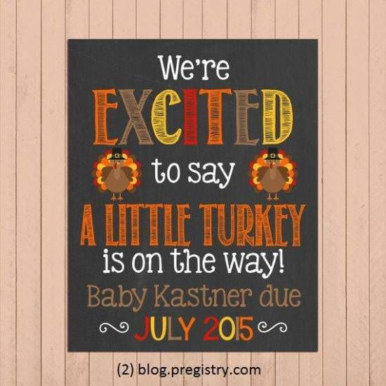 Happy Thanksgiving to all our Pregnant Readers and Mommies! | The Pregistry Blog