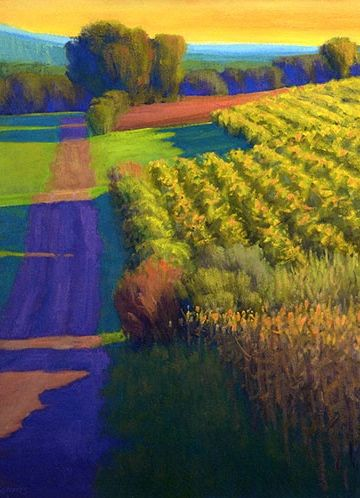 Evening at the Vineyards, Tuscany - Ian Roberts.        For more great pins go to @KaseyBelleFox