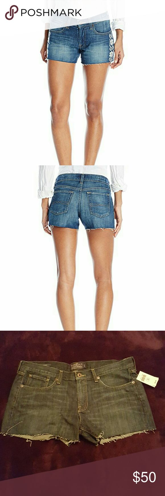 Blue jean cutoffs Handcrafted for a one of a kind appearance. Lucky Brand Shorts Jean Shorts