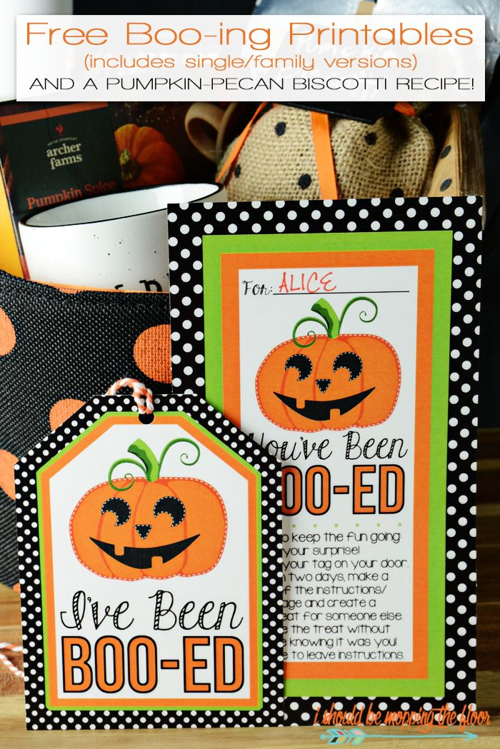 "Free Boo-ing Printables perfect for the classic Halloween Boo-It-Forward game. Includes ""I've/We've"" Been Boo-ed versions. #beenbooed #ad"