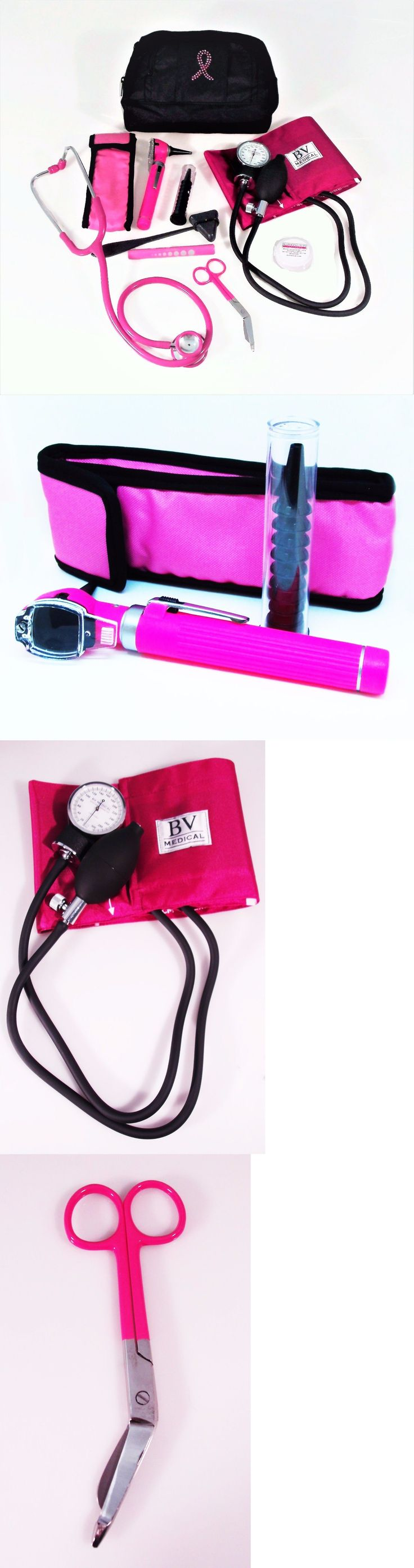 Other Medical Monitoring: Pink Breast Cancer Blood Pressure Bling Bag Pink Stethoscope And Pink Otoscope -> BUY IT NOW ONLY: $61 on eBay!