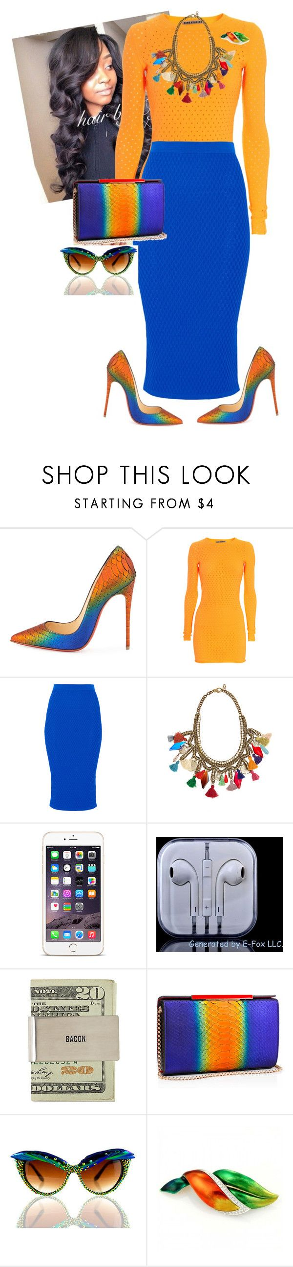"""Church Time"" by cogic-fashion ❤ liked on Polyvore featuring Christian Louboutin, Acne Studios, Jonathan Simkhai, Sveva, MATERIAL MEMORIE and Tiffany & Co."