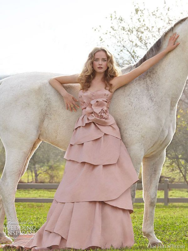 .: Gowns Collection, Blushes Spring, Wedding Dressses, Bridal Collection, Pink Wedding Dresses, Bridal Gowns, Blushes Pink Wedding, Hjelm Blushes, 2012 Bridal