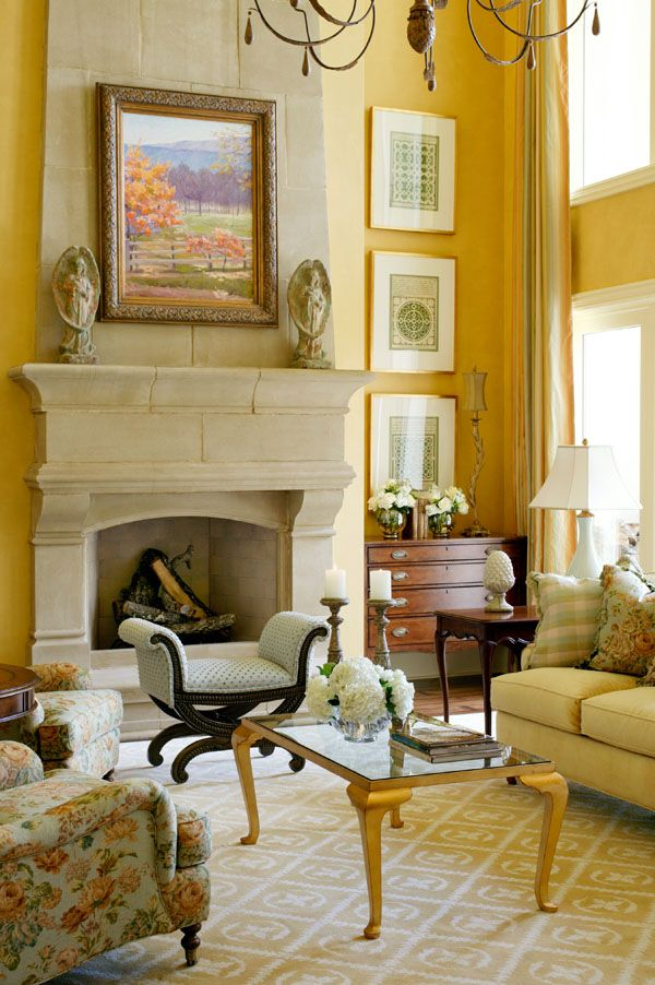 89 best images about fireplace french country on pinterest for Living room yellow walls