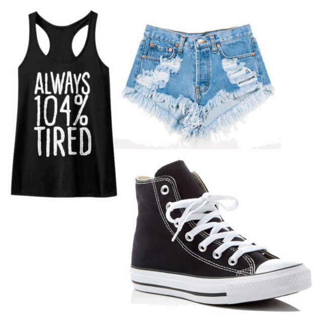 """""""Untitled #44"""" by kristyna-r on Polyvore featuring Levi's and Converse"""
