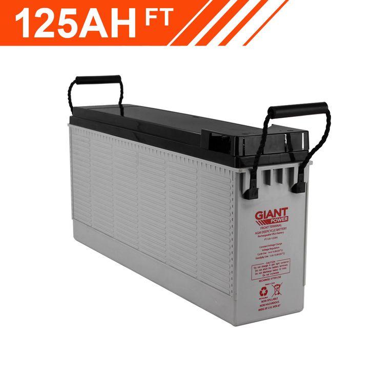 125AH 12V AGM Deep Cycle Front Terminal Battery