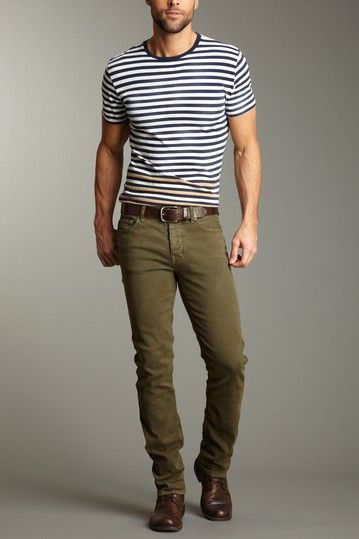 fabulous green jeans outfit men 12