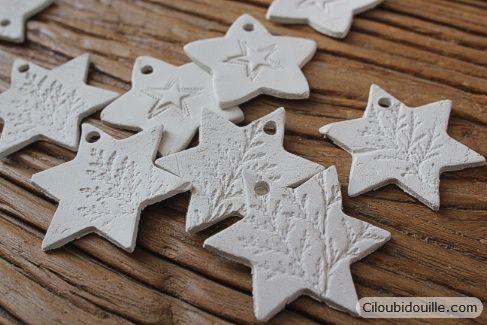 Ciloubidouille » Décorations en argile pour sapins de Noël