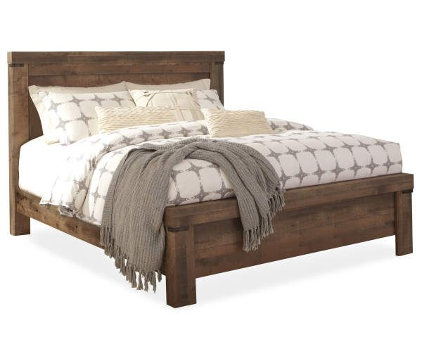Signature Design By Ashley Trinell Panel King Bed Big Lots In 2020 King Beds Bed Frame Bedroom Collection