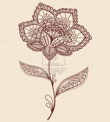 Flower Lace Tattoo. Probably my favorite design...  This would be pretty with lots of color