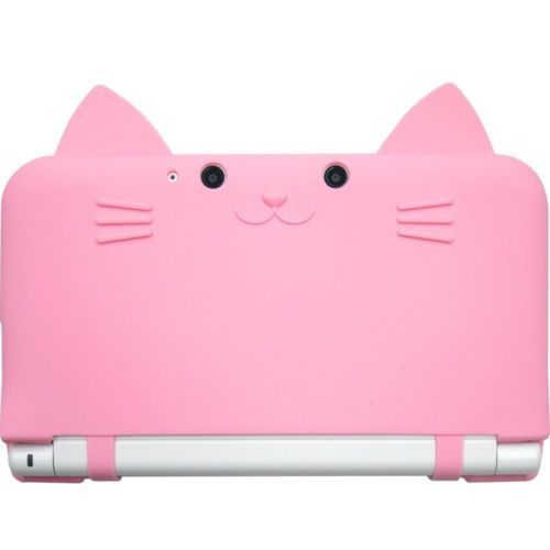 New-3DS-LL-Cat-Neko-Nyan-CYBER-Nintendo-XL-Silicon-Hard-Case-Cover-Pink-Japan-FS