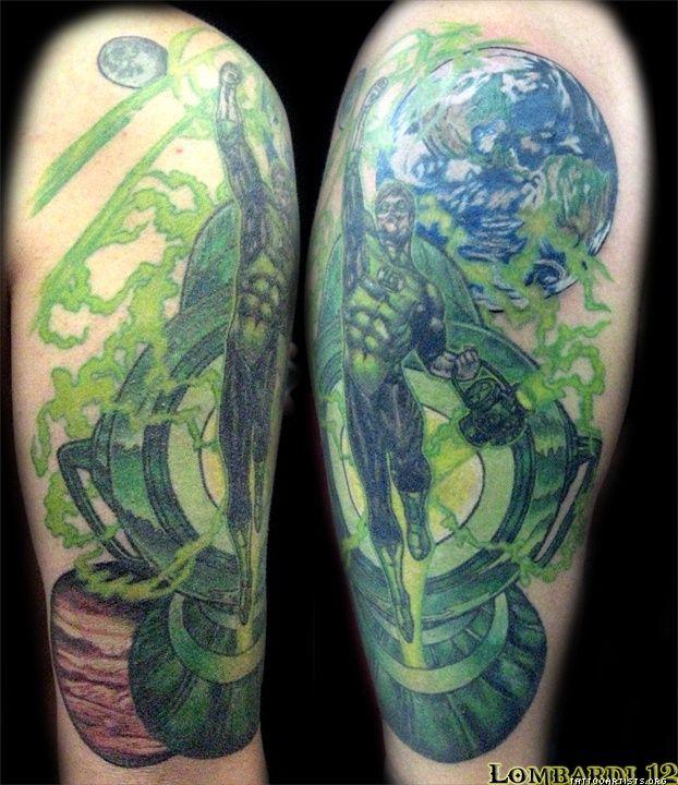 Green lantern tattoo - photo#38