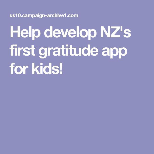 Help develop NZ's first gratitude app for kids!