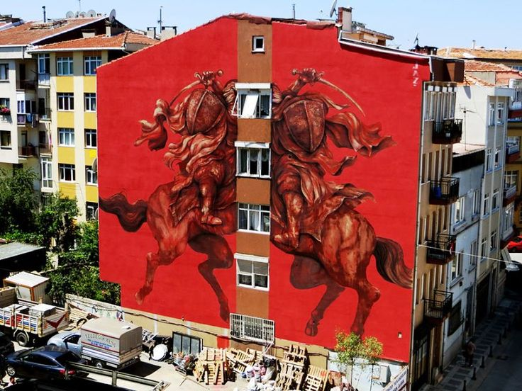 Seni Jalanan Lukisan Mural di Kota Istanbul, Turkey 1