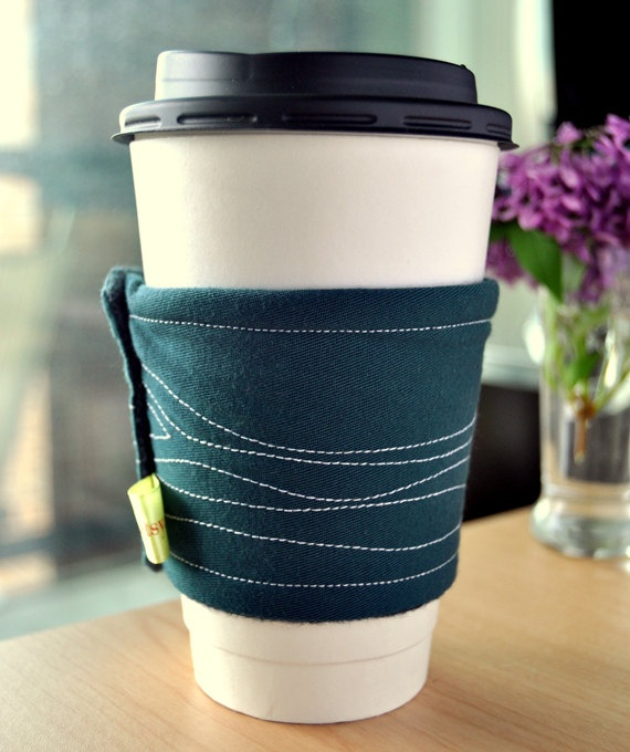 @Jenna Bigott makes these adorable, hand-stitched coffee gauntlets.