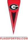 "Georgia Bulldogs Yard Pennant 34"" x 14"""