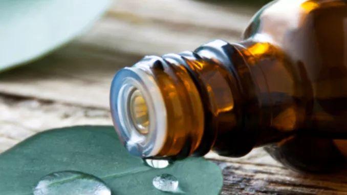 Lippenstiftflecken lassen sich leicht entfernen, indem man etwas Eukalyptusöl auf den Fleck tupft